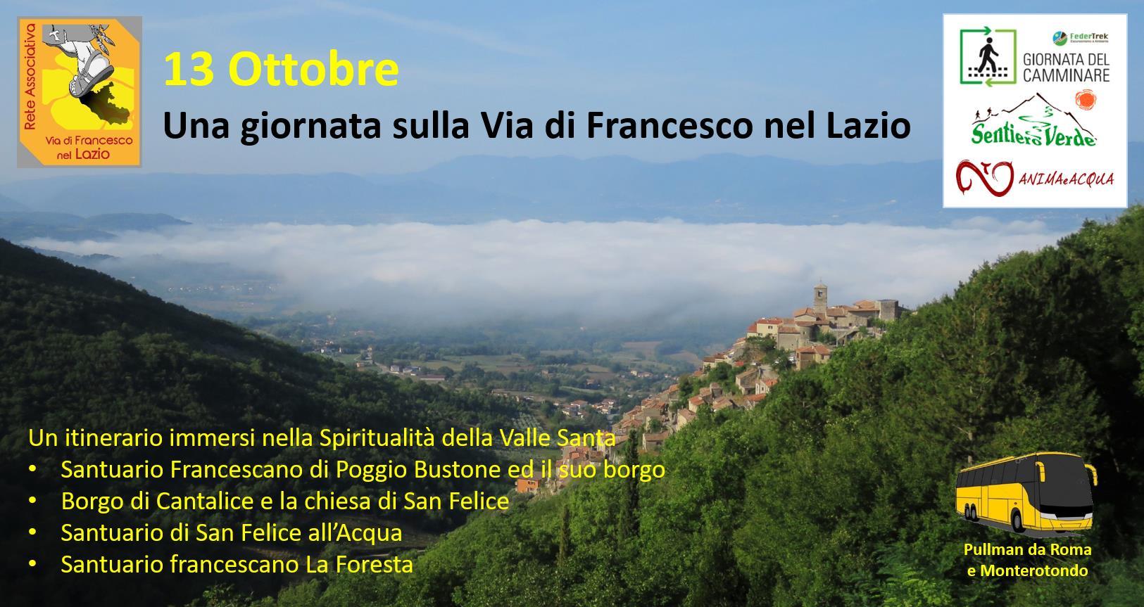 Una giornata sulla Via di Francesco nel Lazio